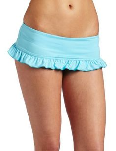 Kushcush Womens Kelly Bottom Swimwear,Aqua,Small Kushcush. $27.56. Made in USA. Ruffle trim on skirt hem. 80% nylon/20% spandex. Hand wash cool, lay flat to dry. Foldover waist for slimming fit and adjustable height. Save 67%!