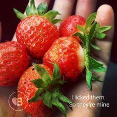 Mine! #strawberries #food #love #passion #breakupbuddy #bub