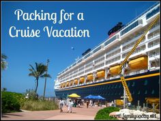 Planning a cruise vacation and not sure of what you need to pack? Take a look at my tips to help you be prepared and hopefully not overpack!
