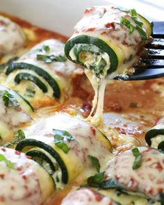 15 Vegetarian Recipes You Can Meal Prep for the Week Zucchini Rollatini is a delicious, cheesy, veggie-loaded dish! Made with strips of grilled zucchini rolled with a basil-cheese filling, marinara and mozzarella. carb recipes for dinner Veggie Dishes, Veggie Recipes, Low Carb Recipes, Cooking Recipes, Healthy Recipes, Easy Recipes, Low Carb Zucchini Recipes, Recipes Dinner, Cheap Recipes