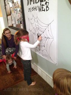 Pin the Spider on the Web Printable