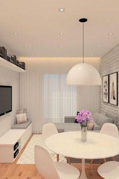 Living Room Interior, Living Room Decor, Dining Decor, Decor Room, Apartment Living Rooms, Condo Living Room, Room Decorations, Apartment Interior, Small Apartment Decorating