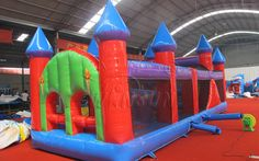 Inflatable Obstacle Course Bouncy Castle WSP-142