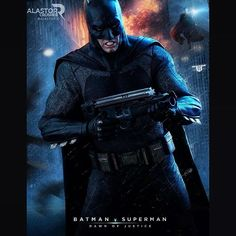 """""""Day Vs Night.  @benaffleck as Batman.  Batman V Superman poster(not official)  Just made this one cause I'm hunting the Funko pop of the movie! But I have…"""""""
