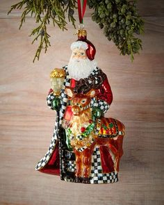 H8F4X MacKenzie-Childs Donner's Keeper Christmas Ornament