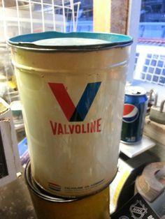 vintage oil tin