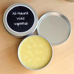 "❤ How To Make All-Natural ""Vicks Vapo Rub"" ❤"