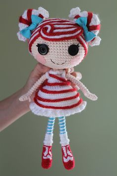 PATTERN Lalaloopsy Mint E. Stripes Crochet Amigurumi by epickawaii