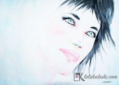 RETRATOS PERSONALIZADOS | Lola Kabuki  #love #art #watercolor #paintings #illustration