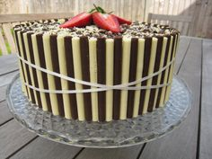 Chocolate Stripe Cake by Tempting Cake