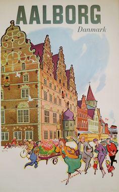 1950s Aalborg Denmark Tourist Advertisement by OutofCopenhagen