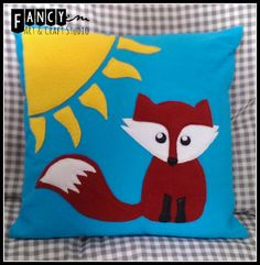 Cute FOX cushion cover by FancyEM on Etsy