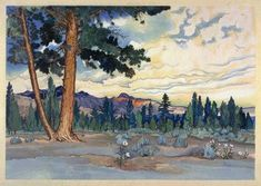 hanga gallery . . . torii gallery: Morning at Mono Lake by Chiura Obata