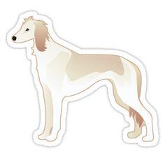 Saluki Sight Hound Basic Breed Silhouette Illustration by TriPodDogDesign