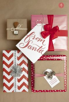 15 Christmas Wrapping and Tags Ideas. The weekly Round Up   The Crafting Nook by Titicrafty