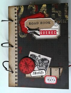Road Book Québec 2015 Mini Albums Scrapbook, Travel Scrapbook, Voyage Canada, Envelope Book, Travel Cards, Album Book, Handmade Books, Smash Book, Mini Books