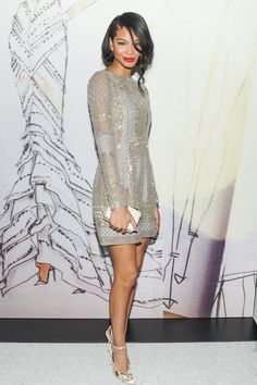 Chanel Iman at the J. Mendel Madison Ave Boutique Fete Photo by...