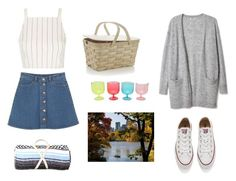 """""""Date Night at Central Park"""" by iamrosyrosalie ❤ liked on Polyvore featuring Topshop, Monki, Converse, Crate and Barrel, Nipomo and M&Co"""