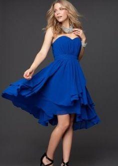 Bebe - Pleated Strapless Layered Skirt Dress