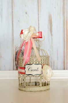 Wedding Birdcage Card Holder Custom to your theme and colors