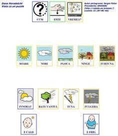 Vremea-rumano Romanian Language, Ds, Little Boys, Education, Comics, Learning, Cake, Toddler Boys, Pastel