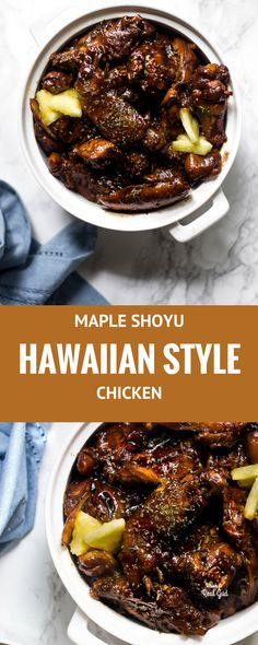 The most easiest delicious and flavorful chicken recipe ever! Maple Shoyu Chicken.