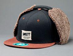 "SWEET SKATEBOARDS ""Ear Flap"" Snapback Cap | OH SNAPBACKS Vintage & New Snapback, Strapback and 5-Panel Caps"