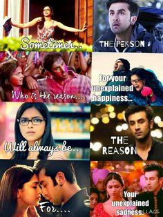 YJHD edits. Joker Love Quotes, Sad Love Quotes, Girl Quotes, Funny Quotes, Qoutes, Yjhd Quotes, Deepika Padukone Movies, Value Quotes, Dear Zindagi