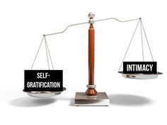 A scale showing self-gratification weighs heavier than intimacy explaining why people cheat