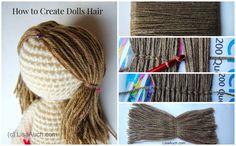 How to Crochet Amigurumi Hair ❥ 4U hilariafina  http://www.pinterest.com/hilariafina/