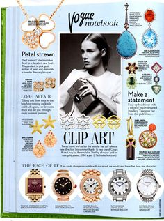 British Vogue - July 2014 - VOGUE Notebook featuring A/W 2014 COOPS - Silver Star COOPS & Yellow Gold Kite with Bar COOPS