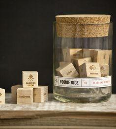 Foodie Wood Dice Tumbler Set by Two Tumbleweeds on Scoutmob Shoppe
