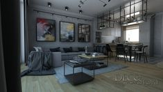 Loft House, Nordic Style, Gallery Wall, Couch, Living Room, Table, Furniture, Scandinavian, Kitchen Ideas