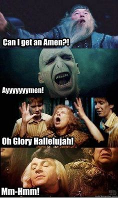 We used to be part of the Latter Day Wizarding Church til he-that-must-not-be-named started that whole Muggle thing.