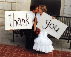 For the 'thank you' cards... such a cute idea.