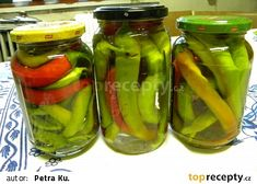 Beraní rohy recept - TopRecepty.cz Korn, Pickles, Cucumber, Canning, Red Peppers, Pickle, Home Canning, Zucchini, Pickling