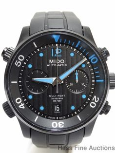 Brand New Never Worn Mido Multifort Mens Black Dial Chronograph Automatic Watch #Mido #Casual