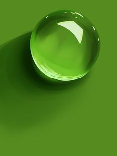 Green water drop/Goutte verte.