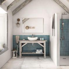 Tile Inspiration – of images Ceramic Wall Tiles, Porcelain Tiles, Blue Tiles, Grey And Beige, Steel Wall, Tile Floor, Flooring, Design, Home Decor