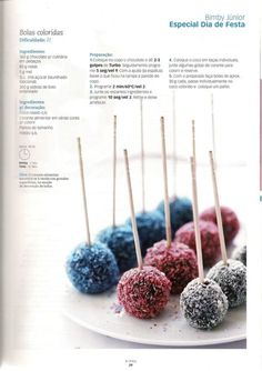 Revista Thermomix - setembro 2010 - nuti B - Sweets Recipes, Cookie Recipes, Cake Pops, Ricotta Cake, Cold Cake, Kitchen Reviews, Good Healthy Recipes, Savoury Cake, Sweet Desserts