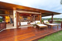 Lanai for rum punch and daydreams. Turns into party deck at night. #destinationtrexsweeps