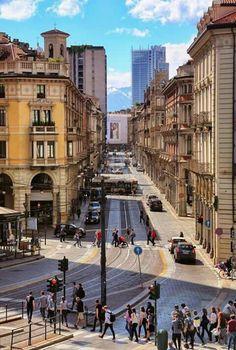 Via Pietro Micca Piedmont Italy, Turin Italy, Street View, Beautiful, Bella, Italia, Sky