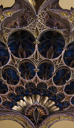 New Architecturally-Inspired Artworks Created From Layers of Laser-Cut Paper by Eric Standley Colossal Islamic Architecture, Gothic Architecture, Architecture Details, Laser Cut Paper, Gothic Windows, Image Citation, Templer, Colossal Art, Desenho Tattoo