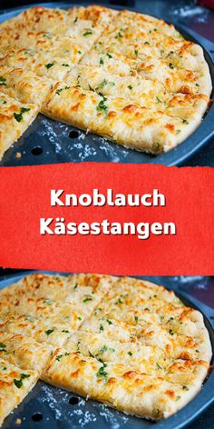 Garlic cheese sticks- Knoblauch Käsestangen These garlic cheese sticks are the perfect snack when watching films. A delicious affair based on Italian pizza. Pizza Snacks, Easy Snacks, Easy Healthy Recipes, Healthy Snacks, Snack Recipes, Easy Meals, Garlic Cheese, Garlic Pizza, Finger Foods