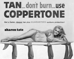 Sharon Tate for Coppertone.
