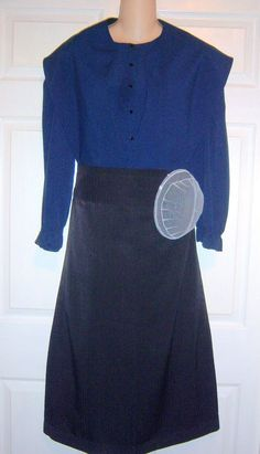 "Amish Dress Cape Apron & White Kapp  38"" Bust / 34"" Waist Lancaster, Pa.  #Handmade #Amish #Casual"