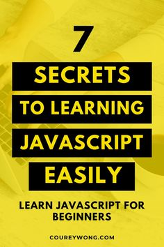7 Secrets To Learning Javascript Easily | Do you want to learn javascript? Learn how to become a web developer as I break down this coding language. Knowing how to code is easier when you can see the big picture. Learn concepts like javascript functions, data types, & simple javascript programming. This is a great guide for any coding beginner. Now you can become a front end web developer with this simple guide in javascript. #javascript #learnjavascript #javascriptbeginner #learntocode Learn Computer Science, Computer Programming, Do You Know What, Need To Know, Code Project, Coding For Beginners, Amazing Websites, Coding Languages, Learn To Code
