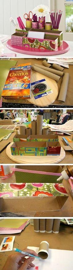Ваза, полочка, комодик: что еще можно сделать из картонных отходов - Ярмарка Мастеров - ручная работа, handmade