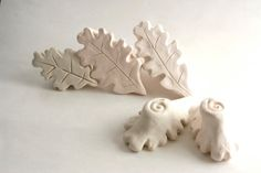 Clay Stamp Oak Leaf Tool for Clay Ceramics Pottery by GiselleNo5, $10.00