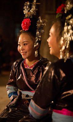Young Miao girls, Zhaoxing , China !!! Flickr - Photo Sharing!
